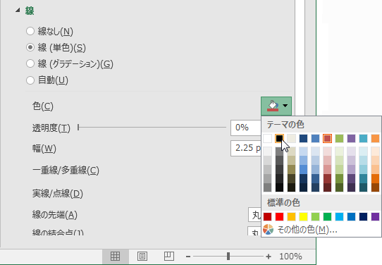 平均気温のグラフの色を黒に指定