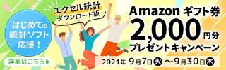 【エクセル統計 ダウンロード版】Amazonギフト券プレゼントキャンペーン画像